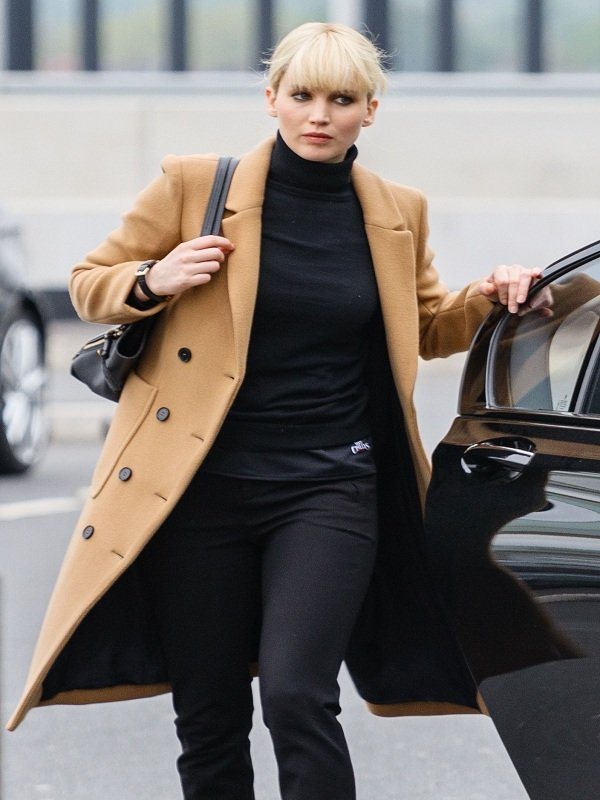 Jennifer Lawrence Red Sparrow Double Breasted Long Coat