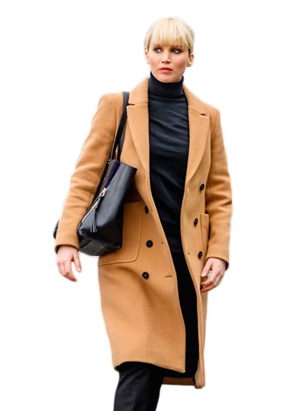 Red Sparrow Jennifer Lawrence Double Breasted Trench Coat