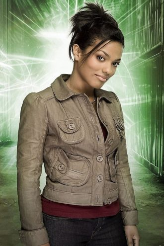 Martha Jones Grey Leather Jacket