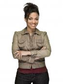 Freema Agyeman Stylish Grey Leather Jacket
