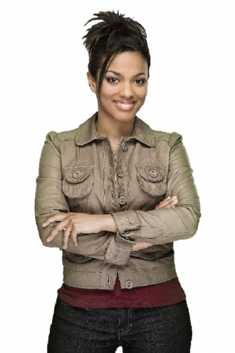 Freema Agyeman Stylish Grey Leather Jacket