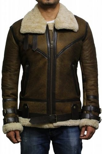 B3 Shearling Sheepskin Bomber Flying Jacket