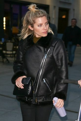 Singer Songwriter Mollie King B3 BomberLeather Jacket
