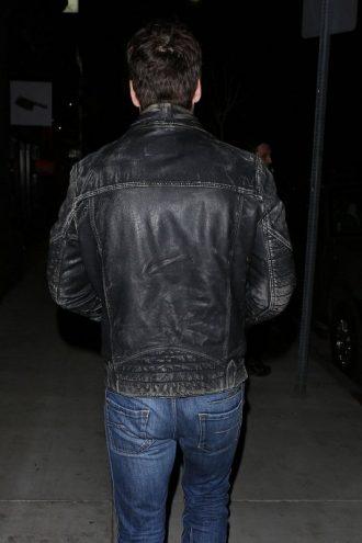 Taylor Kitsch Vintage Black Distressed Jacket