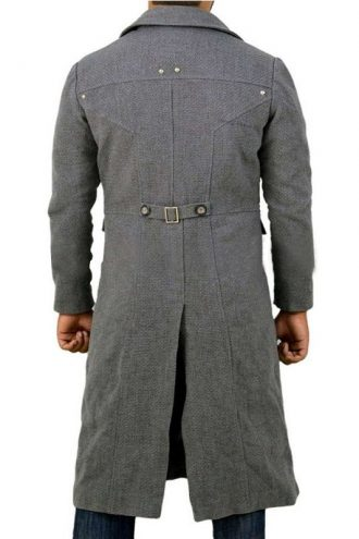 The Hunter Bloodborne Grey Wool Trench Coat