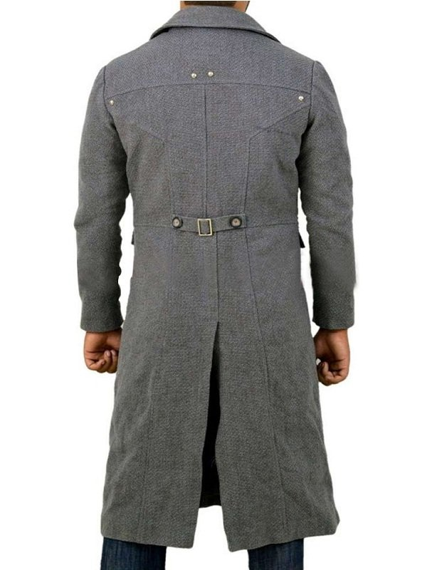 The Hunter Bloodborne Grey Wool Trench Coat