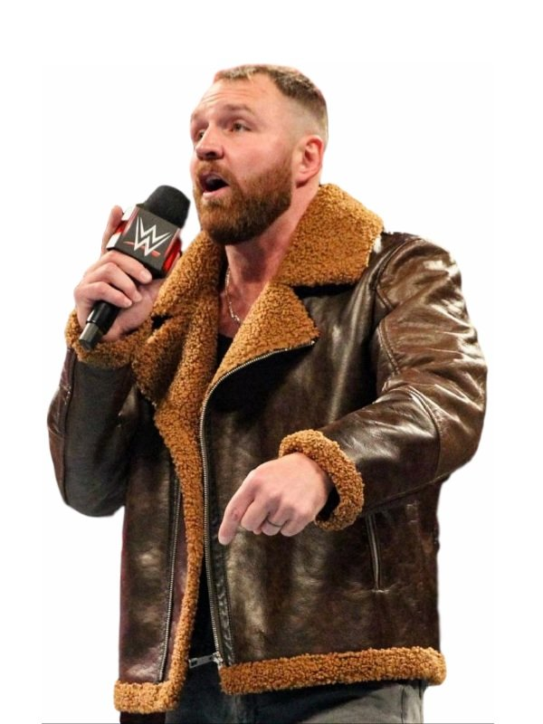 WWE Dean Ambrose Brown B3 Bomber Leather Jacket