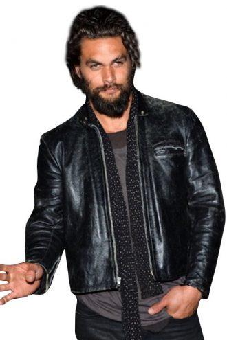 Jason Momoa Distressed Leather Jacket