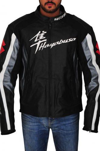 Suzuki Hayabusa Bike Racing Leather Jacket