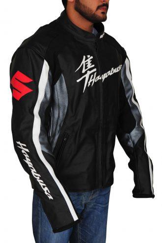 Suzuki Hayabusa Biker Leather Jacket