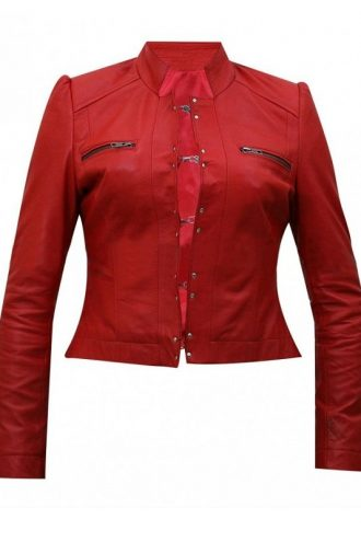 WWE Diva Aksana Red Leather Jacket