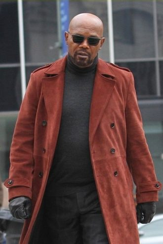 Samuel L Jackson Movie Shaft Leather Coat