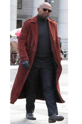 Samuel L Jackson Shaft Leather Trench Coat