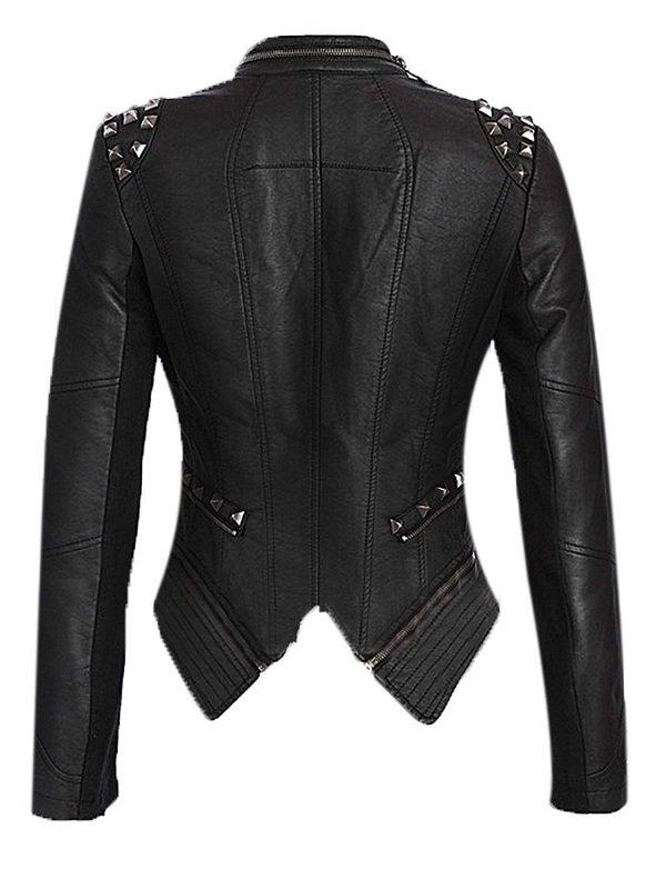 WWE Diva Paige NXT Studded Leather Jacket