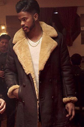 American Singer Trevor Jackson SuperFly Leather Coat