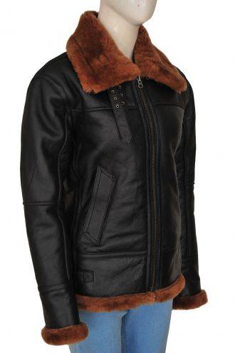 Women's Sheepskin B3 Bomber Leather Jacket
