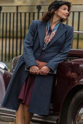 Outlander Claire Randall Blue Long Coat