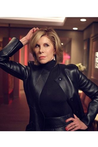 Christine Baranski The Good Fight Leather Coat