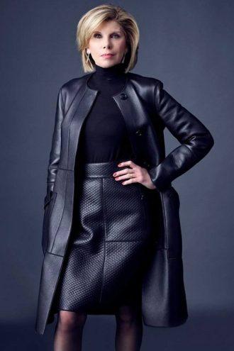 The Good Fight Christine Baranski Leather Coat