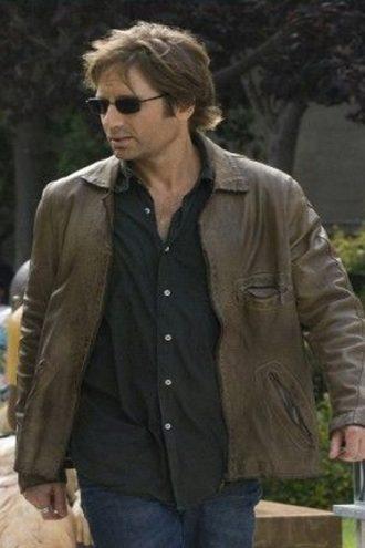 Hank Moody Brown Leather Jacket