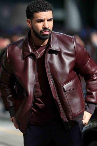 Film Festival Drake Parda Burgundy Maroon Jacket