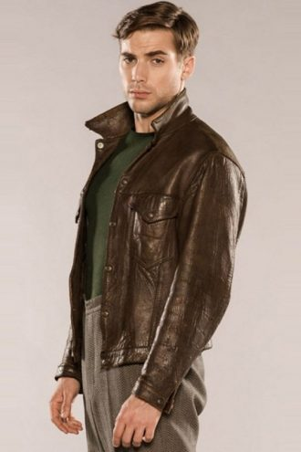 X Company Tom Cummings Real Brown Leather Jacket