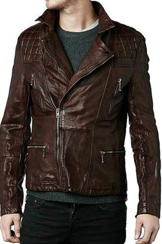 Eddie Redmayne Diamond Quilted Design Jacket
