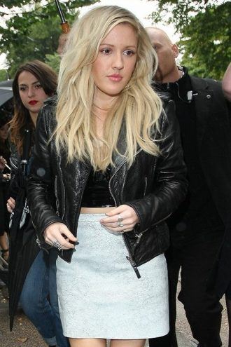 Elena Jane Goulding Black Leather Jacket