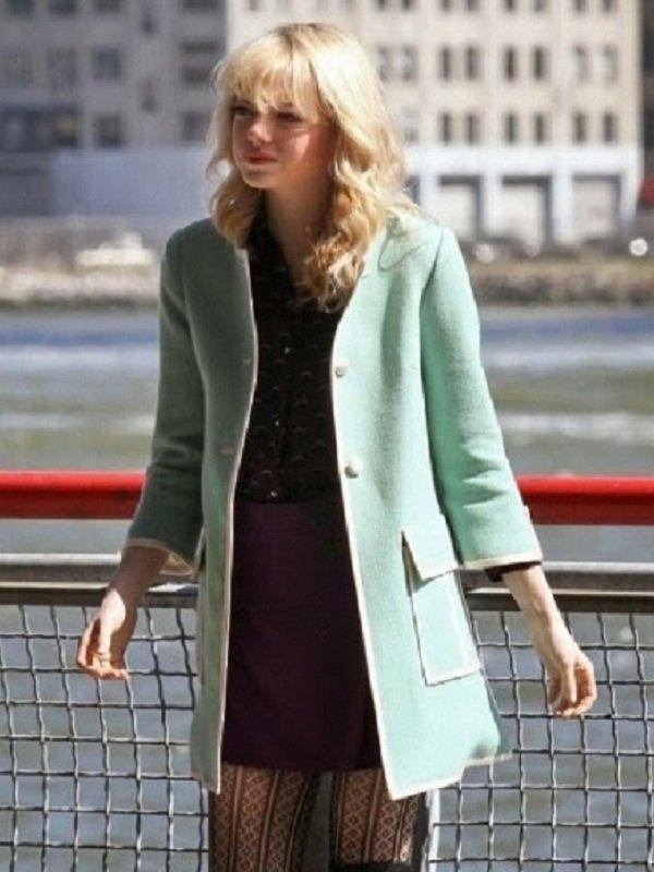 Emma Stone The Amazing Spider Man 2 Coat Top Celebs Jackets