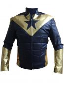 Smallville Booster Gold Motorcycle Jacket
