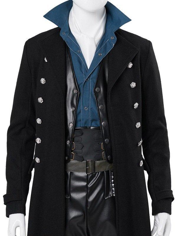 Johnny Depp Fantastic Beasts 2 Black Wool Coat