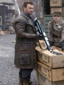 Defiance Grant Bowler Brown Leather Trench Coat