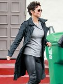 American Actress Halle Berry Trench Coat