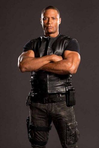 John Diggle Arrowverse Black Leather Vest