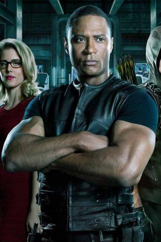 Spartan Green Arrow Leather Vest
