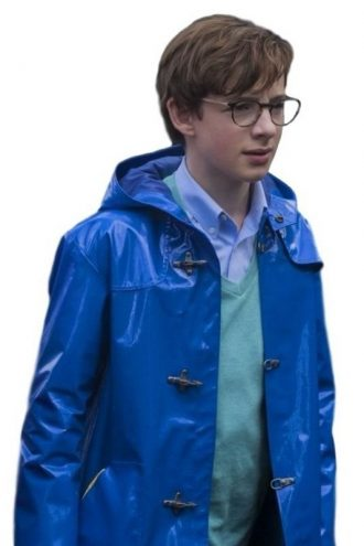 Klaus Baudelaire A Series of Unfortunate Events Leather Coat