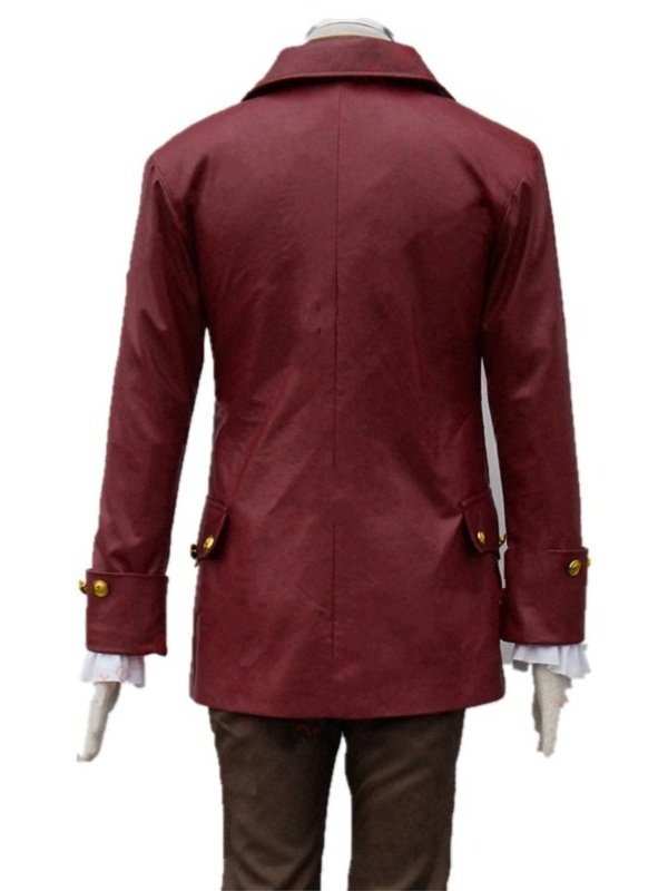 Gaston Beauty And The Beast Military Style Leather Coat