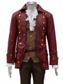 Beauty And The Beast Gaston Military Style Leather Coat