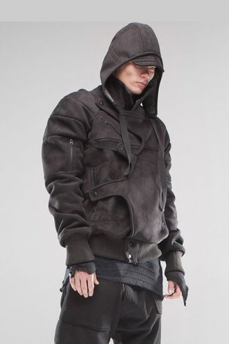 Stylish Asymmetrical Removable Hoodie Jacket