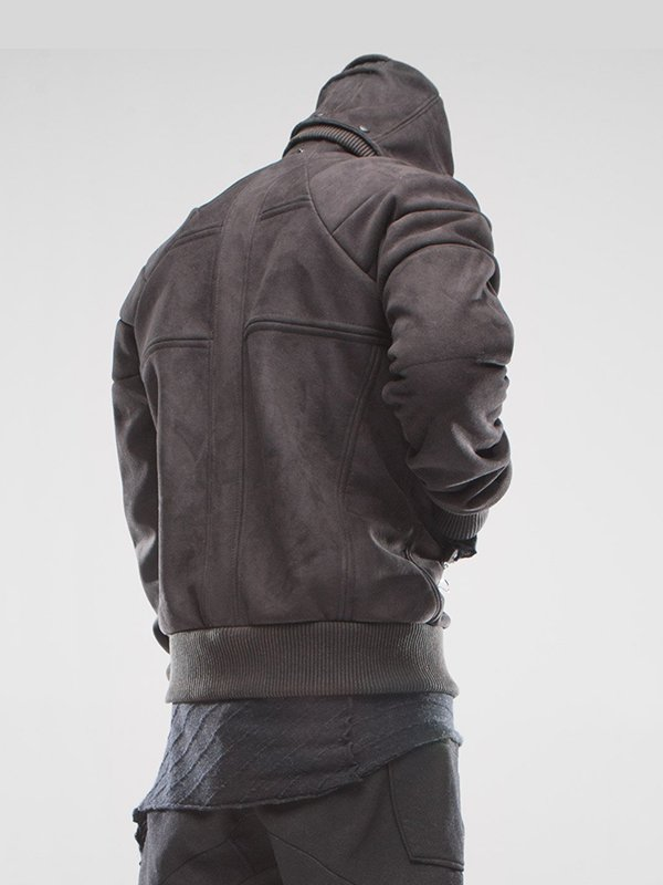 Asymmetrical Removable Hoodie Jacket