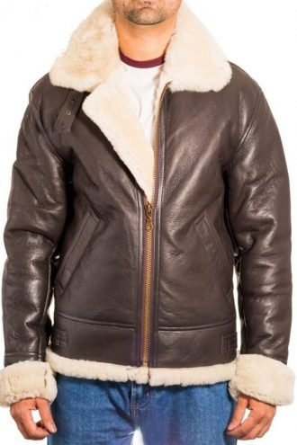 Michael B Jordan B3 Bomber Shearling Flying Leather Jacket