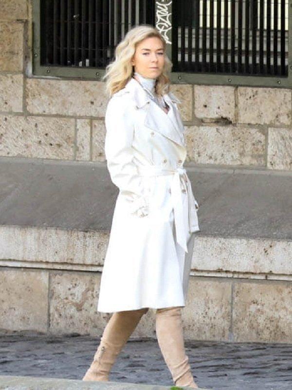 Vanessa Kirby Stylish White Trench Coat
