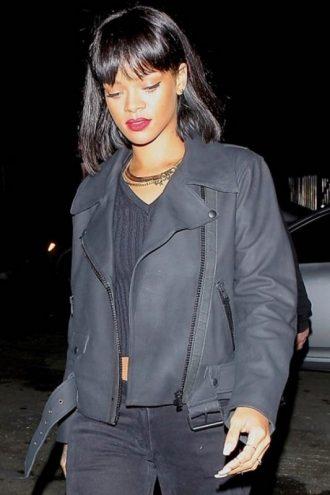 Rihanna Grey Biker Jacket for Women