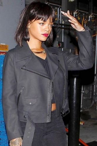 Robyn Rihanna Fenty Leather Jacket
