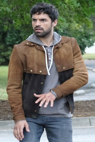 The Gifted Sean Teale Brown Suede Jacket