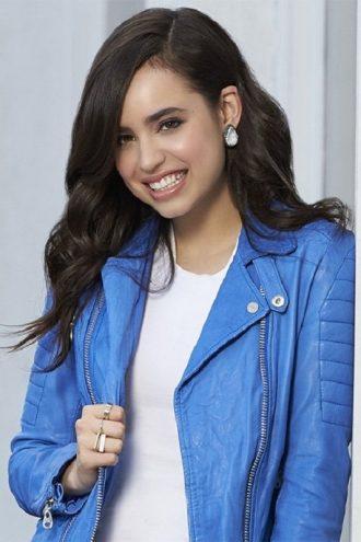 American Singer Sofia Carson Leather Jacket
