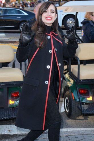 Sofia Carson Thanksgiving Day Parade Long Coat