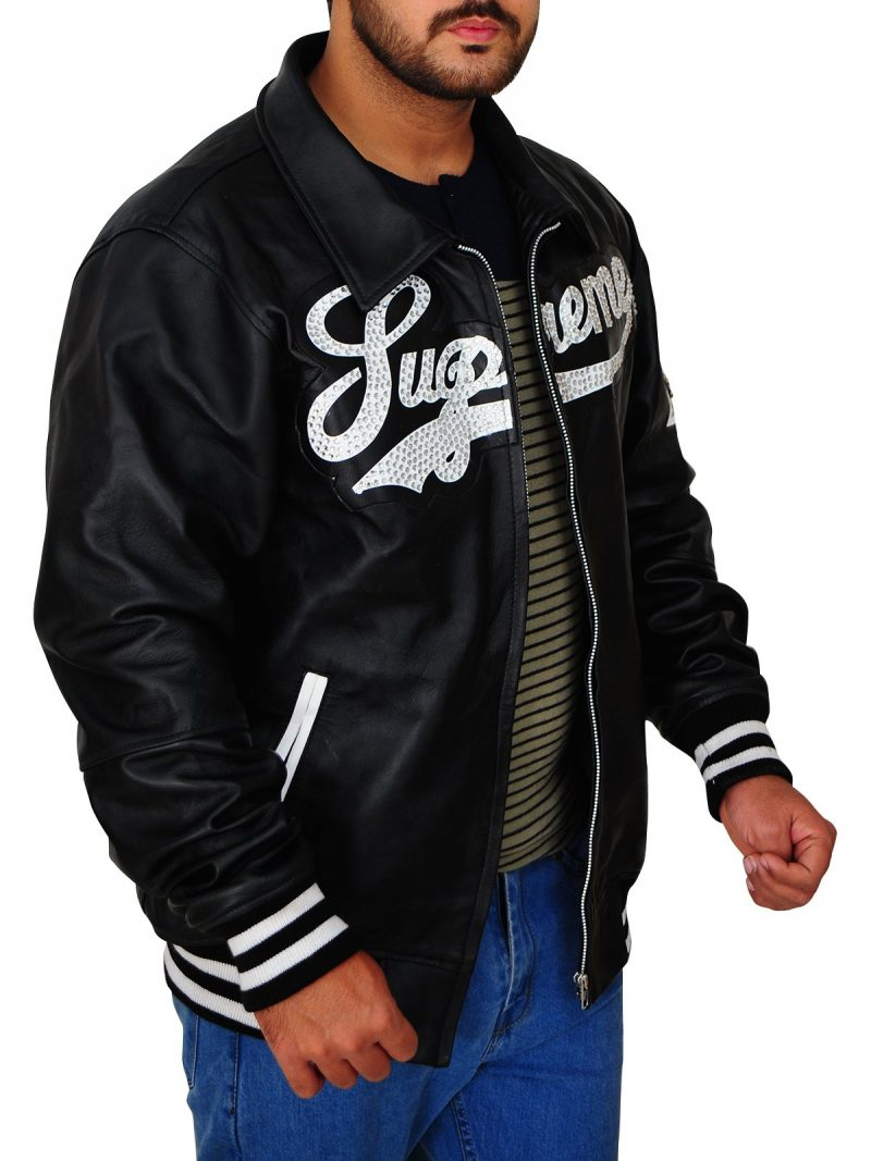 Supreme Black Leather Jacket