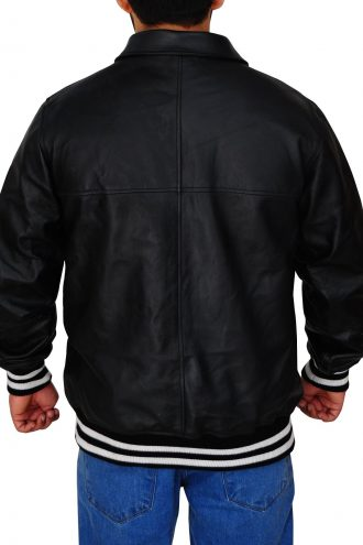 Men's Supreme Black Leather Jacket