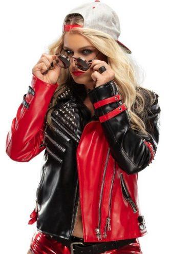 WWE Dangerous Toni Storm Studded Leather Jacket